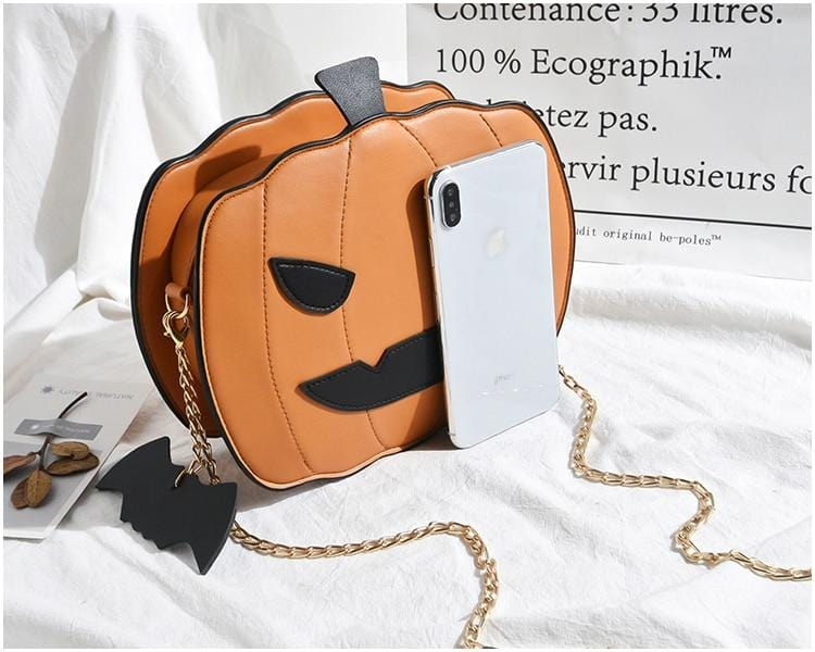 Girl Halloween Pumpkin Bag