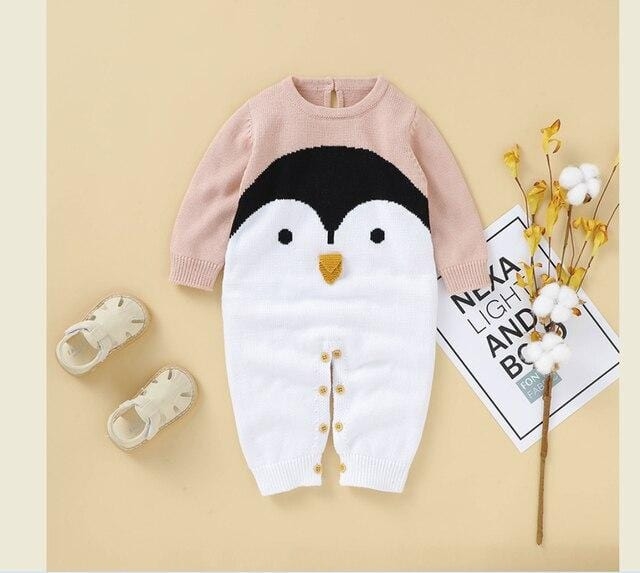 Baby Penguin Cotton Rompers