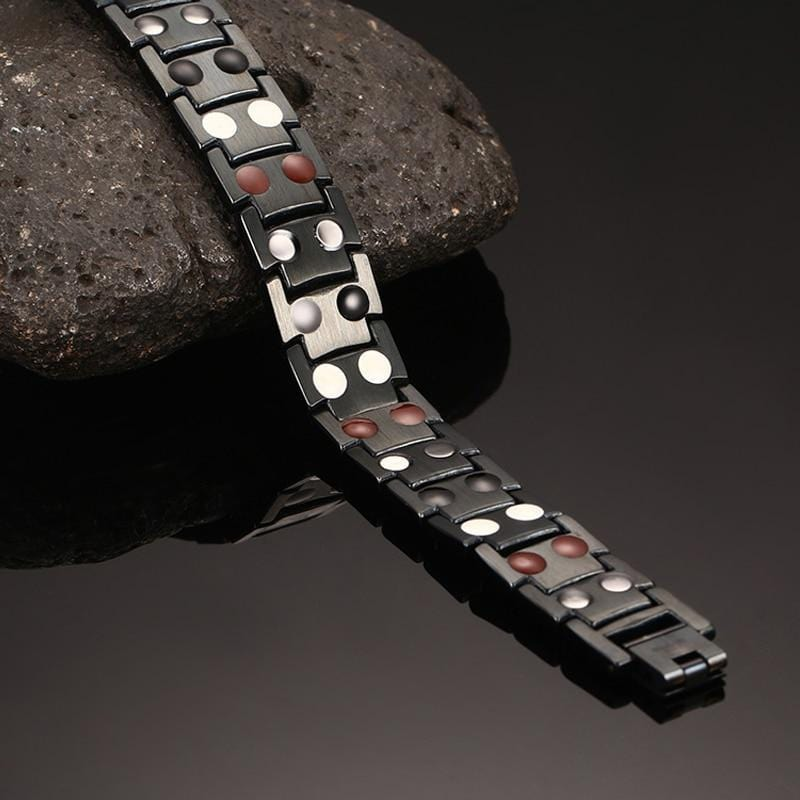 Black Limited Edition Magnetic Therapy Link Bracelet