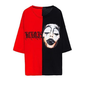Harajuku Lover T Shirt for Men & Women Grim Reaper Print Plus Size