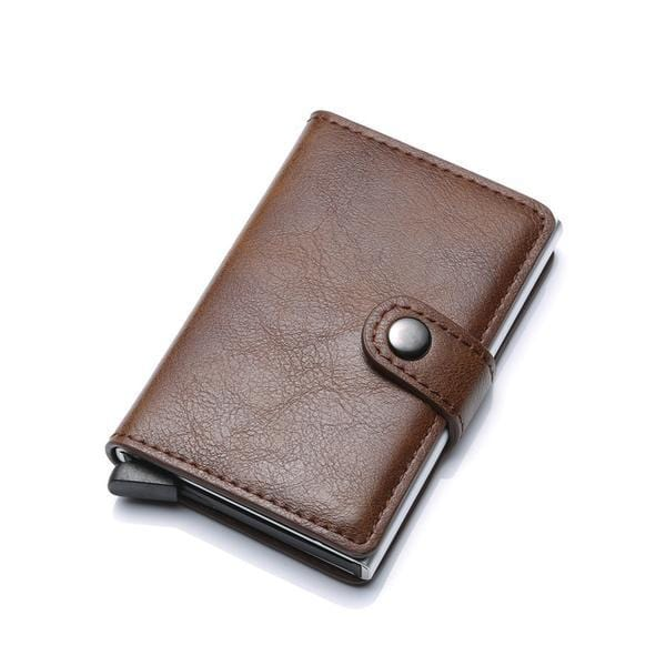 Anti-theft-RFID Auto Pop-up Leather Card Wallet