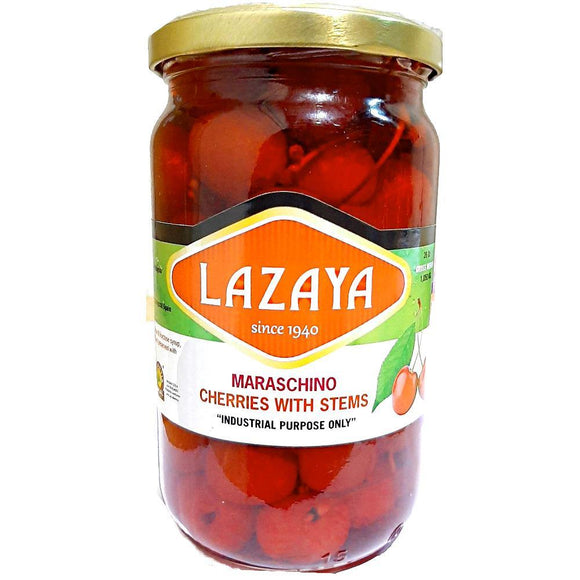 LAZAYA RED MARASCHINO CHERRIES 720G - Bake With Yen
