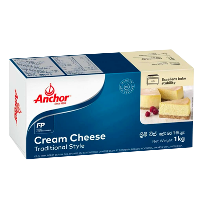 ANCHOR CREAM CHEESE 1KG - Bake With Yen