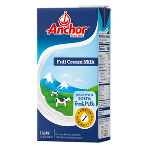 ANCHOR UHT FULL CREAM MILK 1L - Bake With Yen