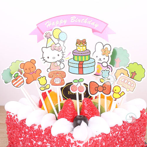 CAKE TOPPER PAPER HELLO KITTY 12s