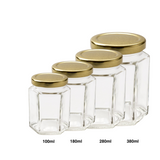 HEXAGON GLASS BOTTLE WITH LID - Bake With Yen