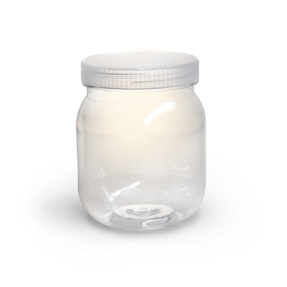 CONFECTIONERY CONTAINER JAR SP255 PLASTIC CAP 1s