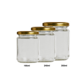 ROUND GLASS BOTTLE WITH LID (GOLD/BLACK) - Bake With Yen