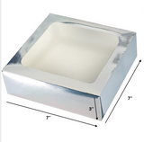 CAKE BOX SILVER (WINDOW)