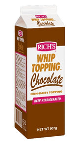 RICH'S WHIP TOPPING CHOCOLATE 907G