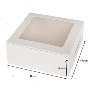 WHITE CAKE BOX WITH WINDOW