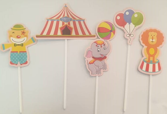CAKE TOPPER PAPER CIRCUS 3s