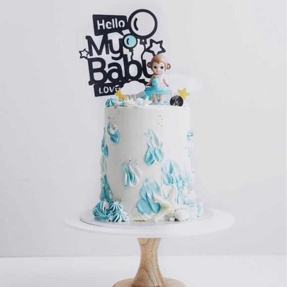 CAKE TOPPER PAPER BABY LOVE 1s