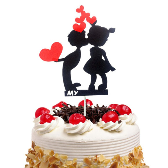 CAKE TOPPER PAPER KISS 1s