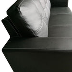 Nowra Sofa with Chaise - Black Leather