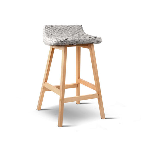 Artiss Set of 2 Weva Bar Stool - Off White