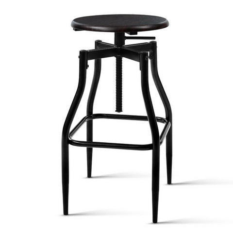 Artiss 2 x Vintage Kitchen Bar Stools Swivel Industrial Bar Stool Retro Rustic