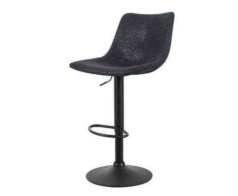 Jovy Black Vintage Leather Barstool