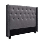 Artiss LUCA Queen Size Bed Head Headboard Bedhead Leather Base Frame