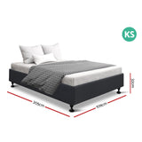 Artiss King Single Size Bed Frame Charcoal- TOMI