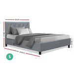 Artiss VANKE Single Size Bed Frame Base