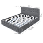QUEEN Bed Frame with 4 Storage Drawers AVIO