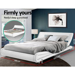Artiss King Size PU Leather Bed Frame FLIO - White