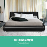 Artiss Queen Size PU Leather Bed Frame FILO - Black