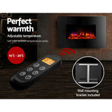 Devanti 2000W Wall Mounted Electric Fireplace