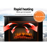 Devanti 2000W Electric Fireplace Mantle