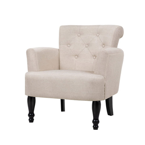 Artiss French Lorraine Chair Retro Wing - Taupe