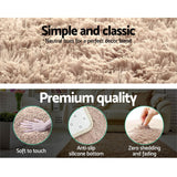 Artiss 140x200cm Floor Rugs Large Ultra Soft Shaggy Rug Carpet Mat Area Beige