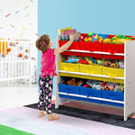 Artiss 9 Bin Kids Wooden Storage Cabinet Bookshelf