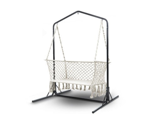 Double Hanging Swing Hammock Chair