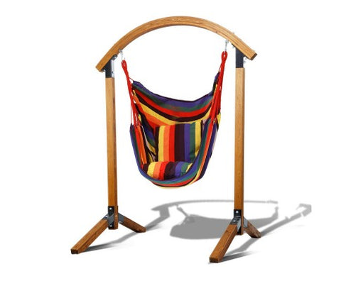 Wooden Hammock Chair & Stand Combo