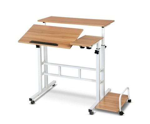 Portable Twin Laptop Desk Height Adjustable