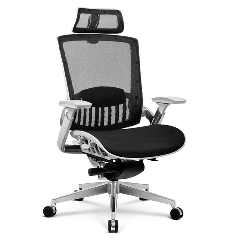 Artiss Office Chair Gaming Chair Computer Chairs Mesh Net Aluminium Alloy Black