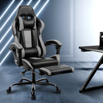 Gaming Office Chair Recliner Racer Black and Grey