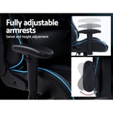 Artiss Musket Gaming Office Racing Chair - Black Blue