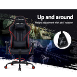 Artiss Musket Gaming Office Racing Chair - Black Red