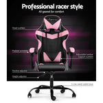 Artiss Office Gaming Chair- Black Pink