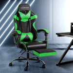 Artiss Office Gaming Chair Recliner - Black Green