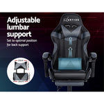 Artiss Office Gaming Chair Recliner - Black Grey