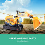 Keezi Kids Ride On Excavator - Yellow