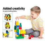 Keezi Kids Ride On Car w/ Building Blocks
