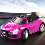 Kids Ride On Car Mercedes Benz AMG GT R Electric 12V Pink