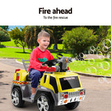 Rigo Kids Ride On Fire Truck Yellow