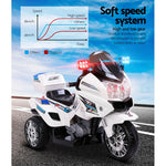 Rigo Kids Ride On Motorbike Tri White