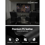 Artiss Recliner Chair Luxury Armchair Leather Black