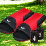 Weisshorn Twin Set Thermal Sleeping Bags - Red & Black
